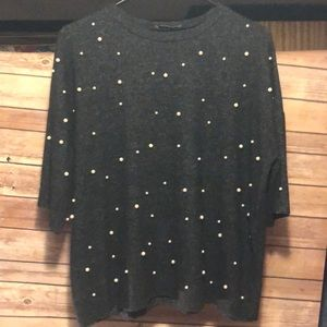 NWOT Zara size small pearl details top